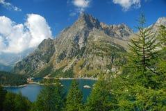 Lago Alpe Devero, alpi italiane Devero Fotografia Stock