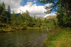 Lago alpestre, Alpe Veglia. Montan@as italianas Imágenes de archivo libres de regalías