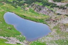 Lago alpestre Brebeneckul en las montañas del verano imagen de archivo libre de regalías