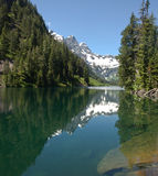 Lago alpestre wilderness imagen de archivo