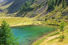 Lago in alpi fotografia stock libera da diritti