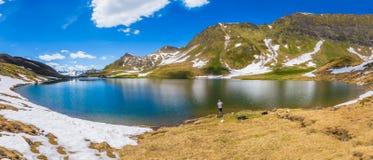 Lago Alpin dello svizzero Immagine Stock