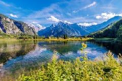 Lago alpino Almsee Austria Fotografia Stock Libera da Diritti