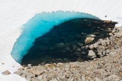 Lago alpino congelado Foto de archivo libre de regalías