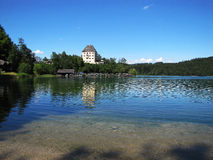 Lago alpino Fuschl Imagens de Stock