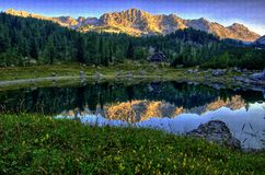 Lago alpino II Fotografie Stock