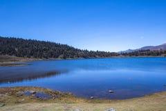Lago alpino Merida Venezuela fotografia de stock