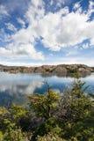 Lago alpino patagonia nelle montagne cilene Fotografie Stock Libere da Diritti