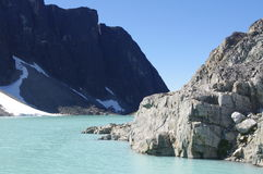 Lago alpino spettacolare Wedgemount fotografia stock