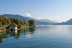 Lago alpino summer, Switzerland Fotos de Stock Royalty Free