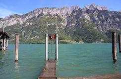 Lago alpino Walen Imagen de archivo libre de regalías