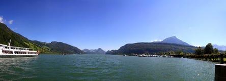 Lago Alpnachersee in Svizzera Fotografie Stock Libere da Diritti