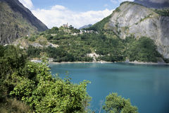 Lago alps Immagini Stock