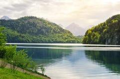 Lago Alpsee Immagini Stock