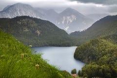 Lago Alpsee in Germania Fotografie Stock Libere da Diritti