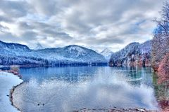 Lago Alpsee in Germania del sud fotografia stock