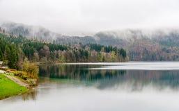 Lago Alpsee in Hohenschwangau, Baviera, Germania Immagini Stock Libere da Diritti