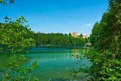 Lago Alpsee a Hohenschwangau vicino a Monaco di Baviera in Baviera Immagine Stock Libera da Diritti