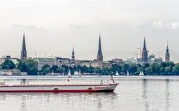 Lago Alster a Amburgo Immagini Stock Libere da Diritti