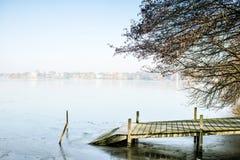 Lago Alster, Amburgo Fotografia Stock