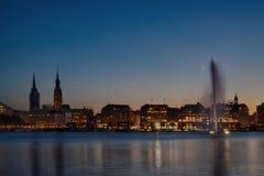 Lago Alster a Amburgo Fotografia Stock
