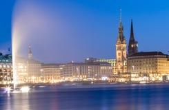 Lago Alster, Amburgo Fotografia Stock Libera da Diritti