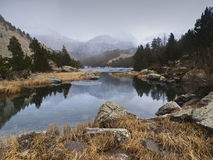 Lago alta mountain Fotografie Stock Libere da Diritti