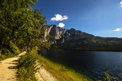 Lago Altaussee in autunno in anticipo, Austria Fotografie Stock Libere da Diritti