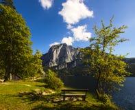 Lago Altaussee in autunno in anticipo, Austria Immagine Stock Libera da Diritti