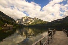 Lago Altaussee in autunno in anticipo, Austria Immagini Stock