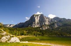 Lago Altaussee in autunno in anticipo, Austria Immagini Stock Libere da Diritti