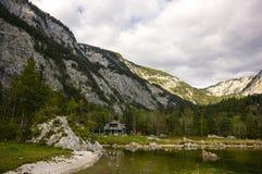 Lago Altaussee in autunno in anticipo, Austria Fotografia Stock Libera da Diritti