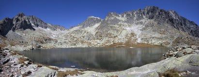 Lago in alte montagne di Tatra Fotografia Stock Libera da Diritti