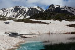 Lago alte mountains Immagini Stock Libere da Diritti