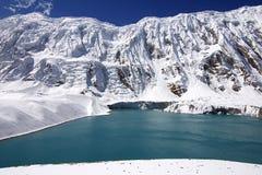 lago Alto-montagnoso Tilicho Fotografia Stock Libera da Diritti