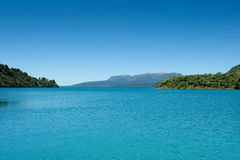 Lago & Montain - Tarawera imagens de stock