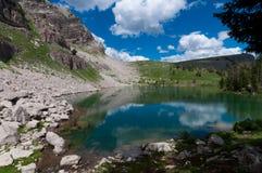 Lago amphitheater en Teton magnífico imagen de archivo