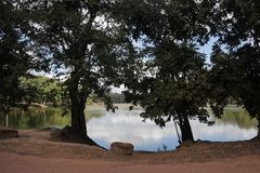 Lago in Angkor Cambogia Fotografie Stock