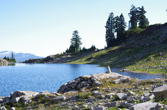 Lago Ann nos vulcões da escala da cascata Foto de Stock Royalty Free