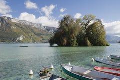 Lago annecy foto de stock