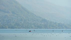 Lago annecy in Francia stock footage