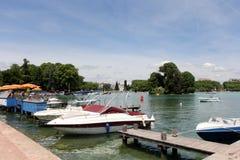 Lago annecy, Francia Fotografia Stock Libera da Diritti