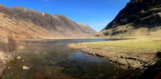 Lago Aonach Eagach in valle di Glencoe Fotografie Stock