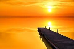 Lago arancio Fotografie Stock