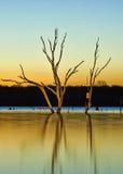 Lago arcadia en la salida del sol Foto de archivo libre de regalías