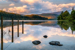 Lago Ard ad alba Fotografia Stock Libera da Diritti