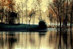 Lago ardiente 2 Imagen de archivo libre de regalías