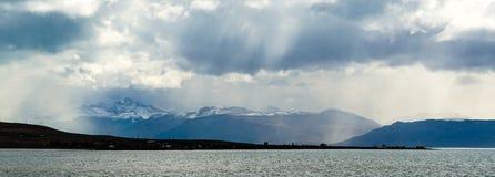 Lago Argentinien nahe EL Calafate im Patagonia/in Argentinien lizenzfreie stockfotografie