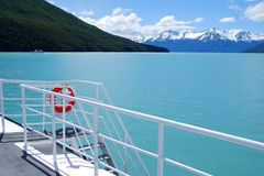 Lago Argentino. View of Lago Argentino from a tour boat in Los Glaciares National Park Stock Photo