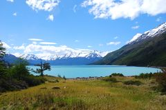 Lago Argentino. View of Lago Argentino in Los Glaciares National Park Stock Photos